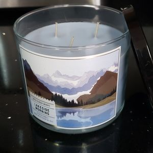 New BBW 3 Wick Candle-Lakeside Morning